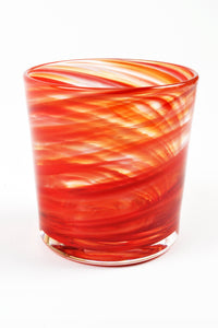 Swirl Highball Glass in Red