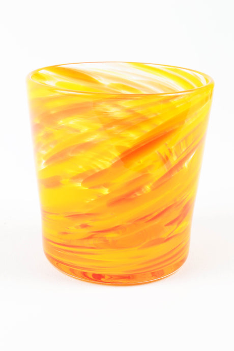 Swirl Highball Glass in Yellow
