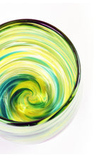 Load image into Gallery viewer, Swirl Stemless Wine Glass in Green