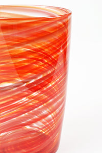 Swirl Tall Tumbler in Orange
