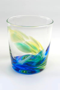Tye-Dye Highball Glass in Blue/Green(pre-order item)