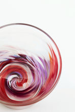 Load image into Gallery viewer, Tye-Dye Highball Glass in Red/Purple(pre-order item)
