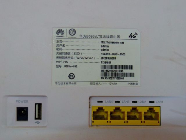 Unlocked HUAWEI LTE ROUTER B593s-850 Band 38 39 40 41 TR-069, external  antenna port support Used Ship from China