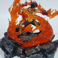 Fire Fist Ace Action Figure with Fire Aura - One Piece Gears