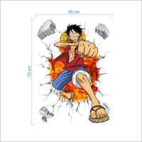Luffy 3D Effect Wall Sticker - One Piece Gears