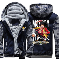 One Piece Monkey D. Luffy Thick Jacket - One Piece Gears