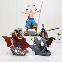 Luffy, Mihawk and Enel 15cm Action Figures - One Piece Gears
