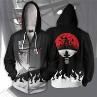 ITACHI UCHIHA ZIP UP HOODIE - One Piece Gears