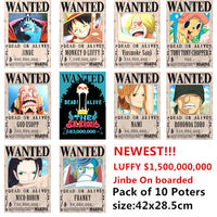 One Piece Wanted Posters - One Piece Gears