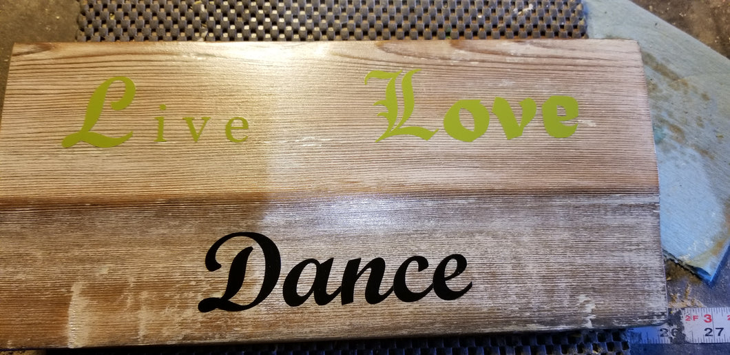 Live. Love. Dance wall plaque