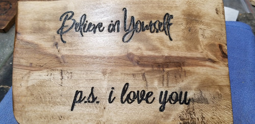 Believe in Yourself OOAK Liveslab art Mom decor