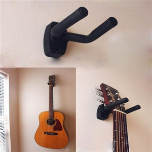 1 Pcs Guitar Hanger Hook Holder Wall Mount Stand Rack Bracket Display Guitar Bass Screws Accessories