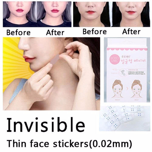 40 Pcs/Set Invisible Thin Face Lift  Facial Line Wrinkle Sagging Skin V-Shape Face Lift Tape Scotch for Face