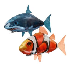 Remote Control Shark Toys RC Air Swimming Fish Toy RC Flying Air Balloons Remote Control Animals Nemo Clown Gifts For Children