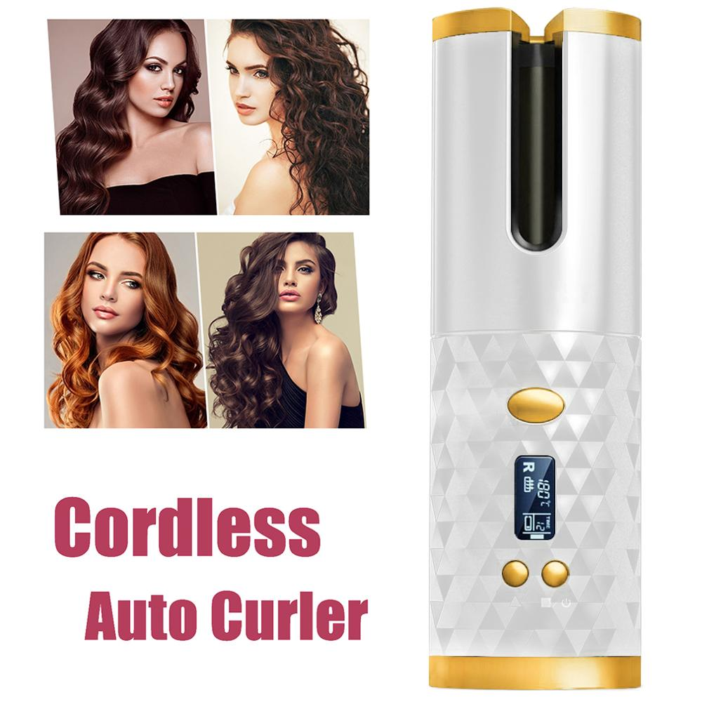 Auto-Rotating Ceramic Hair Curler