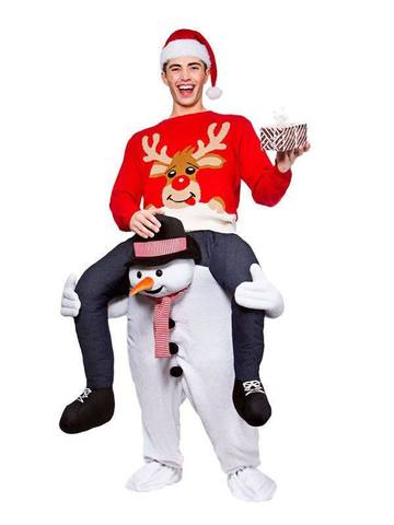 Snowman Carry Me Ride on Stag Mascot Costume