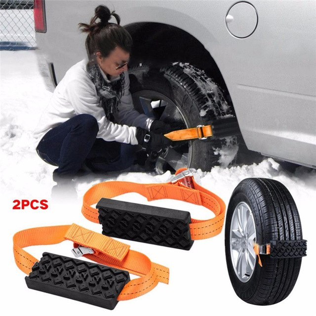 SkidSafe™ - Anti Skid Tire Block Chains (2pcs)
