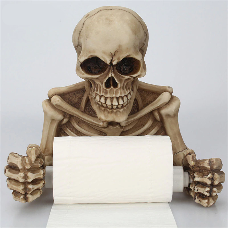 Creative Skull Toilet Paper Holder