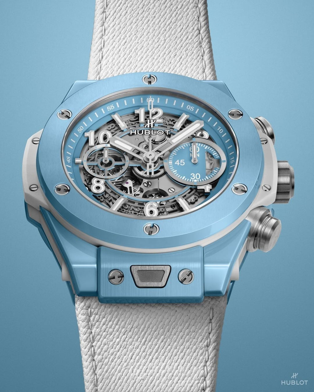 The Big Bang Unico Sky Blue is part of a one-two-color Hublot