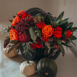 Floral Pumpkin arrangements
