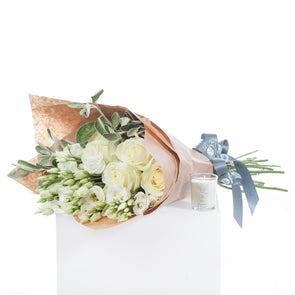 Roses, Lisianthus and Candle special offer