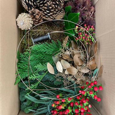 Make at home wreath kit with video link