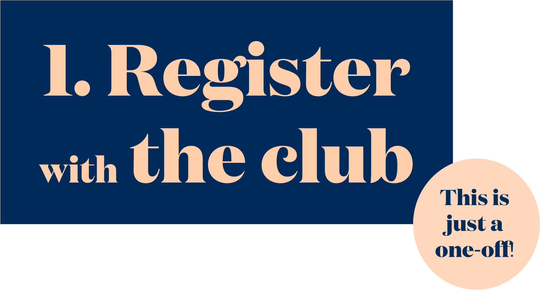 Onetrack Club registration step one