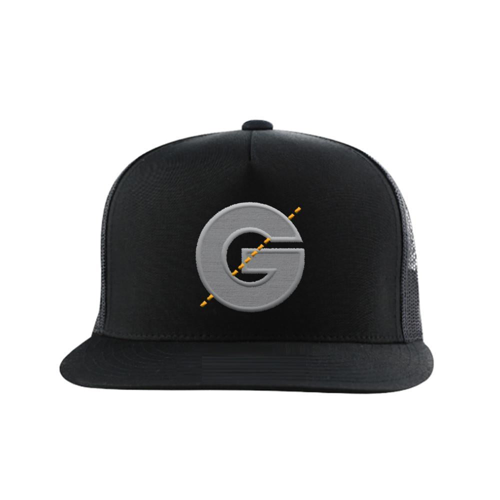 Groomarang Black Snapback Cap With Large Embroidered Logo by  Beauty Pop Cosmetics