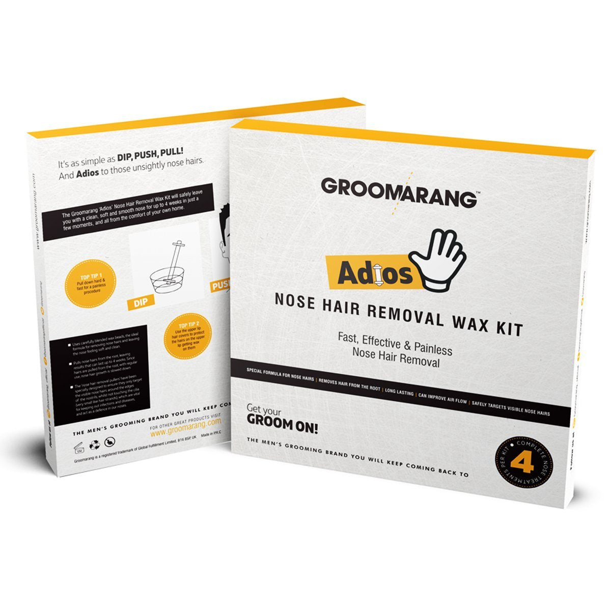 Groomarang Adios Nose Hair Removal Wax Kit, Hair Removal by Beauty Pop Cosmetics