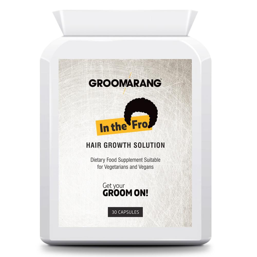 Groomarang 'In The Fro' Hair Growth Tablets by  Beauty Pop Cosmetics