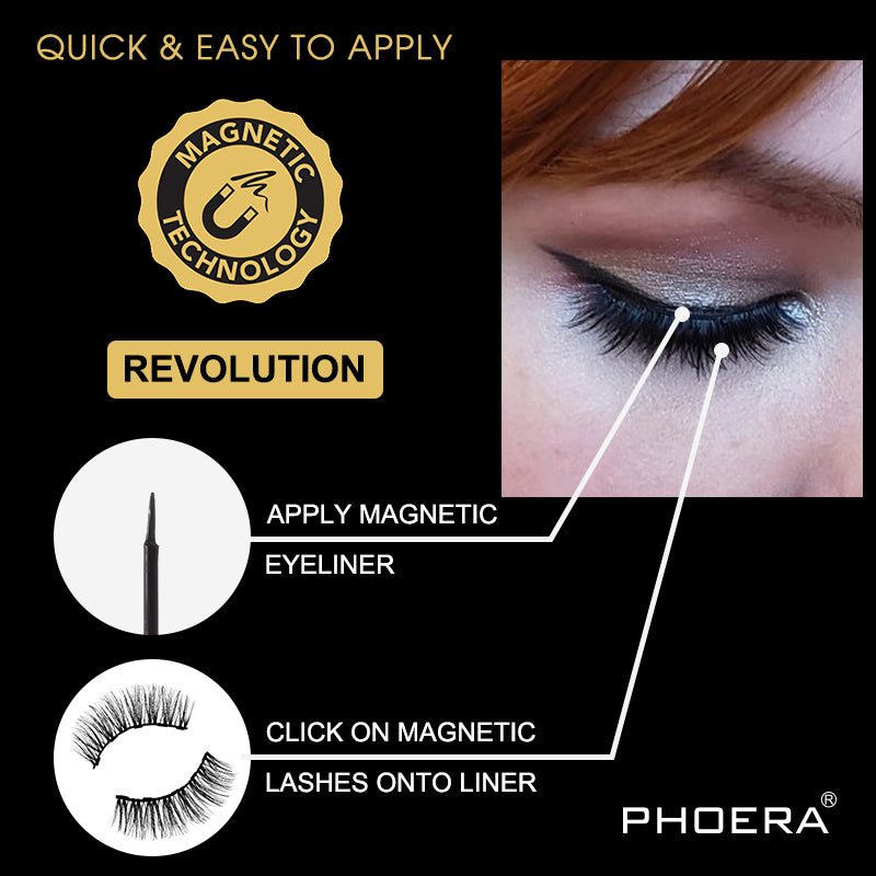PHOERA Magnetic Lashes by  Beauty Pop Cosmetics