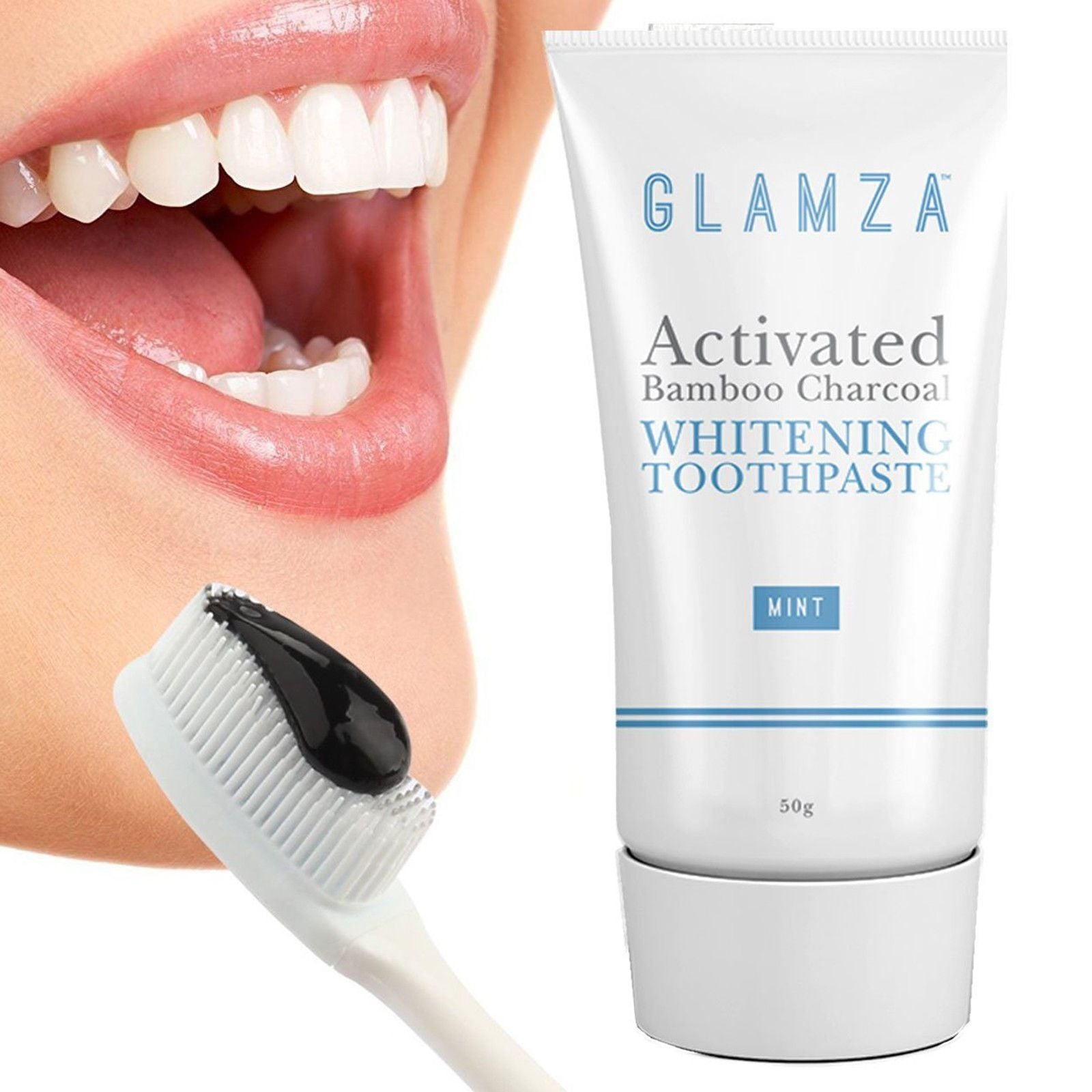 Glamza Activated Charcoal Toothpaste 50g by  Beauty Pop Cosmetics