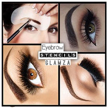 Load image into Gallery viewer, Glamza Eyebrow Stencils (3 Pack)