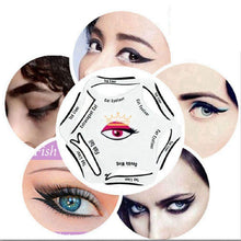 Load image into Gallery viewer, Glamza Cat Eyeliner 6 in 1 Stencil