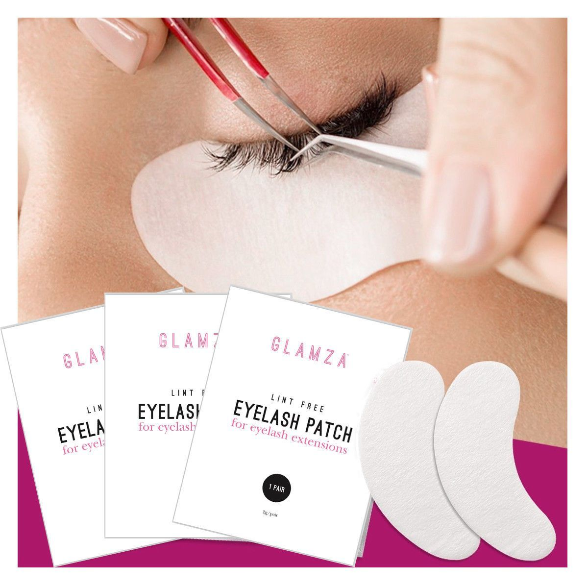 Glamza Eyelash Extension Patches, Makeup Tools by Beauty Pop Cosmetics