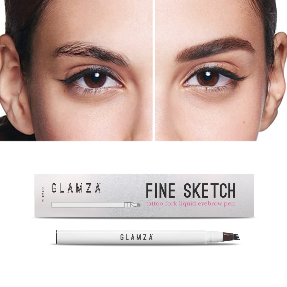 Glamza Fine Ketch Tattoo Fork Liquid Eyebrow Pen by  Beauty Pop Cosmetics