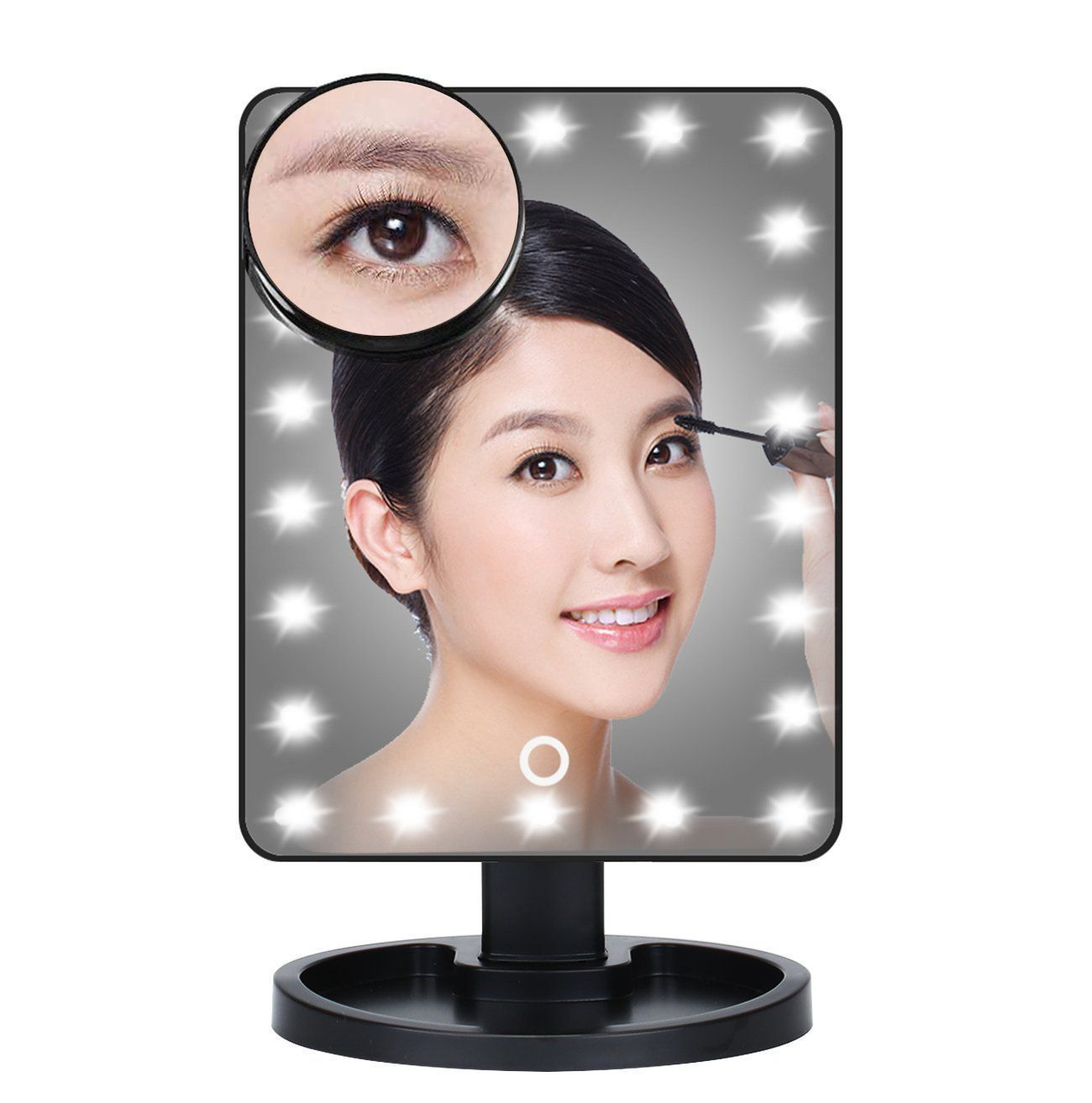 22 LED Magnifying Touch Screen Vanity Mirror by  Beauty Pop Cosmetics