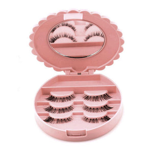 False Eyelash Mirrored Storage Case