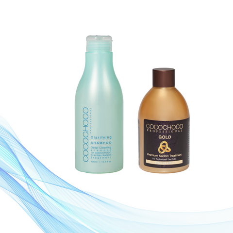 Cocochoco GOLD 250 ml + Clarifying šampon 400 ml