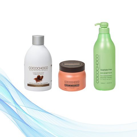 Cocochoco ORIGINAL 250 ml+ Šampon bez sulfata 1000 ml + Boost-up maska 500 ml