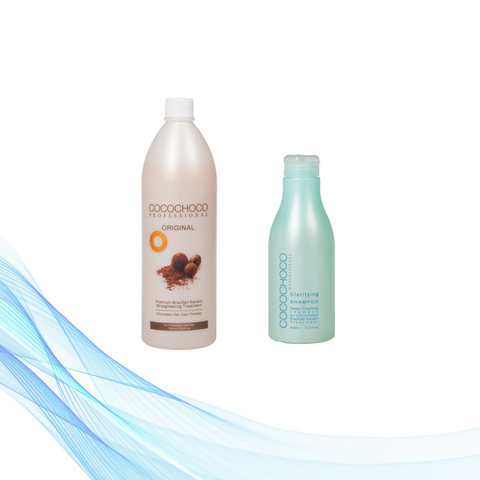 Cocochoco ORIGINAL keratin 1000 ml + Clarifying šampon 400 ml