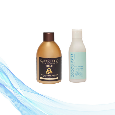 Cocochoco GOLD 250 ml + Clarifying šampon 150 ml