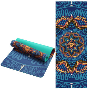 Lotus Pattern Suede Yoga Mat Pad Non-slip Slimming Exercise Fitness Gymnastics Mat Body Building Esterilla Pilates