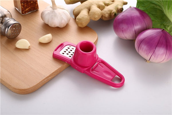 Manual Portable Garlic Presses Garlic Chopper Crusher Ginger Grinding Grater Kitchen Tools Gadgets Home Kitchen Accessories AT78