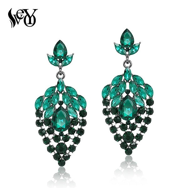 Crystal Drop Earrings for Women Luxury Rhinestone Earrings Top Quality Brinco New Arrival