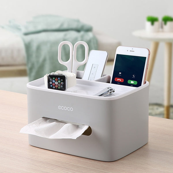 Tissue Box Cover Plastic Napkin Holder Double Storage Bathroom Living Room Paper Holder Office Waterproof Tissue Dispenser 2019