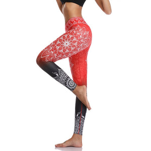High Waist Print Yoga Pants Fitness Yoga Leggings Workout Running Leggings Gym Yoga Pants Elastic Slim Sports Leggings