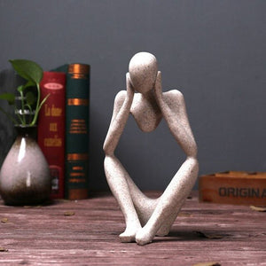 1PCS Create Home Decoration Living Room Office Resin Sandstone Figure Abstract Character Decoration Ornaments Decor figurines