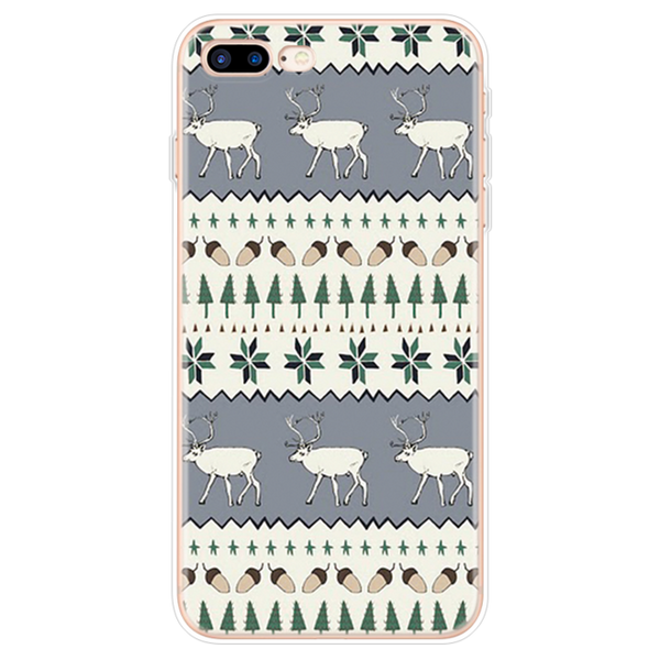 Case For iPhone 11 Pro Max 6 6S 7 8 Plus X XR 5 5S SE Case For iphone 7 Plus Christmas New Year Deer TPU Cover For iPhone XS Max