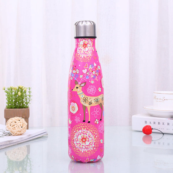 500ml Cartoon Deer Vacuum Cup Insulated Stainless Steel Water Bottle Coffee Thermos Portable Bottle
